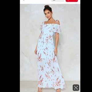 Dresses & Skirts - Light blue off the shoulder maxi dress